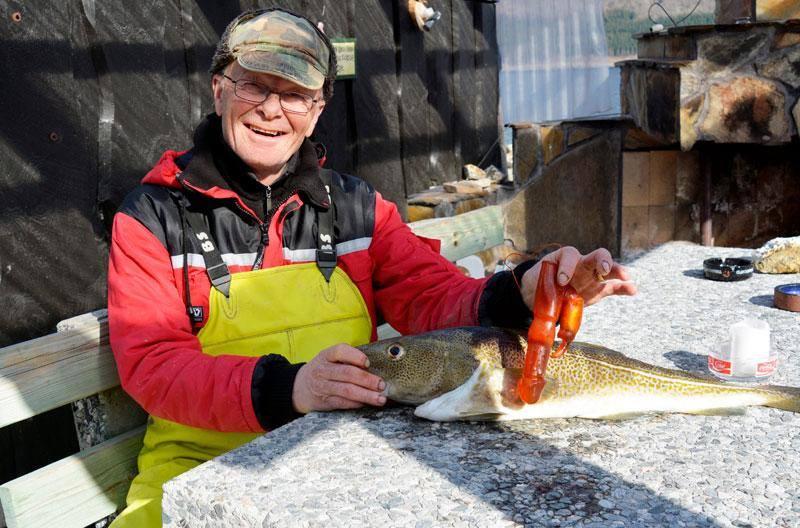 Fischer mit Vibratordorsch