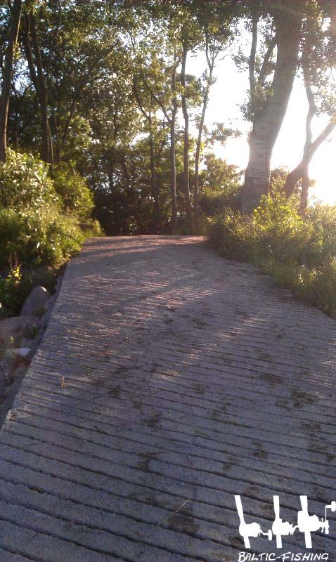 Steile Auffahrt
