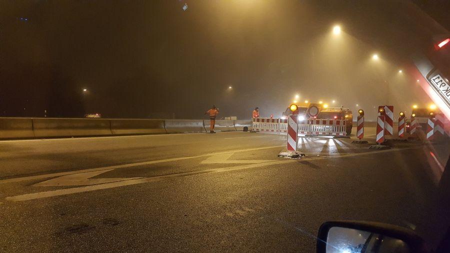 Vollsperrung der A23 bei Hamburg
