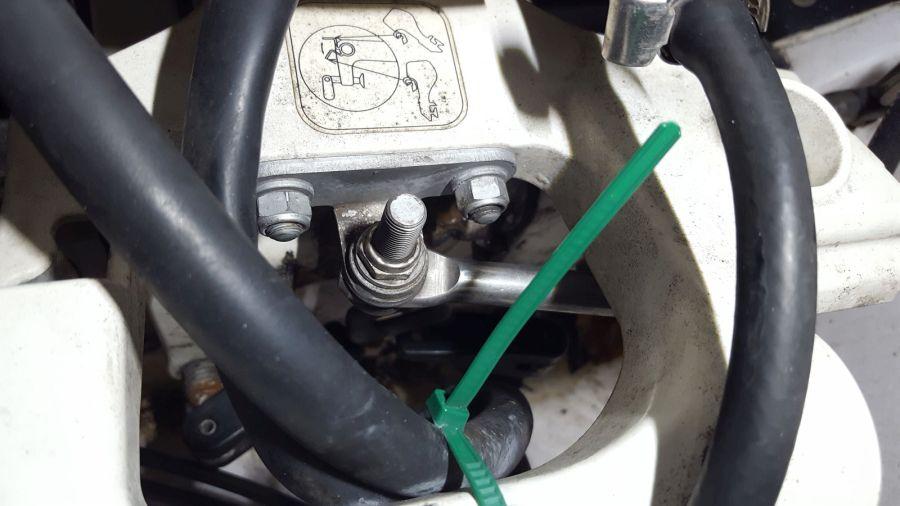 Montagepunkt am Motor